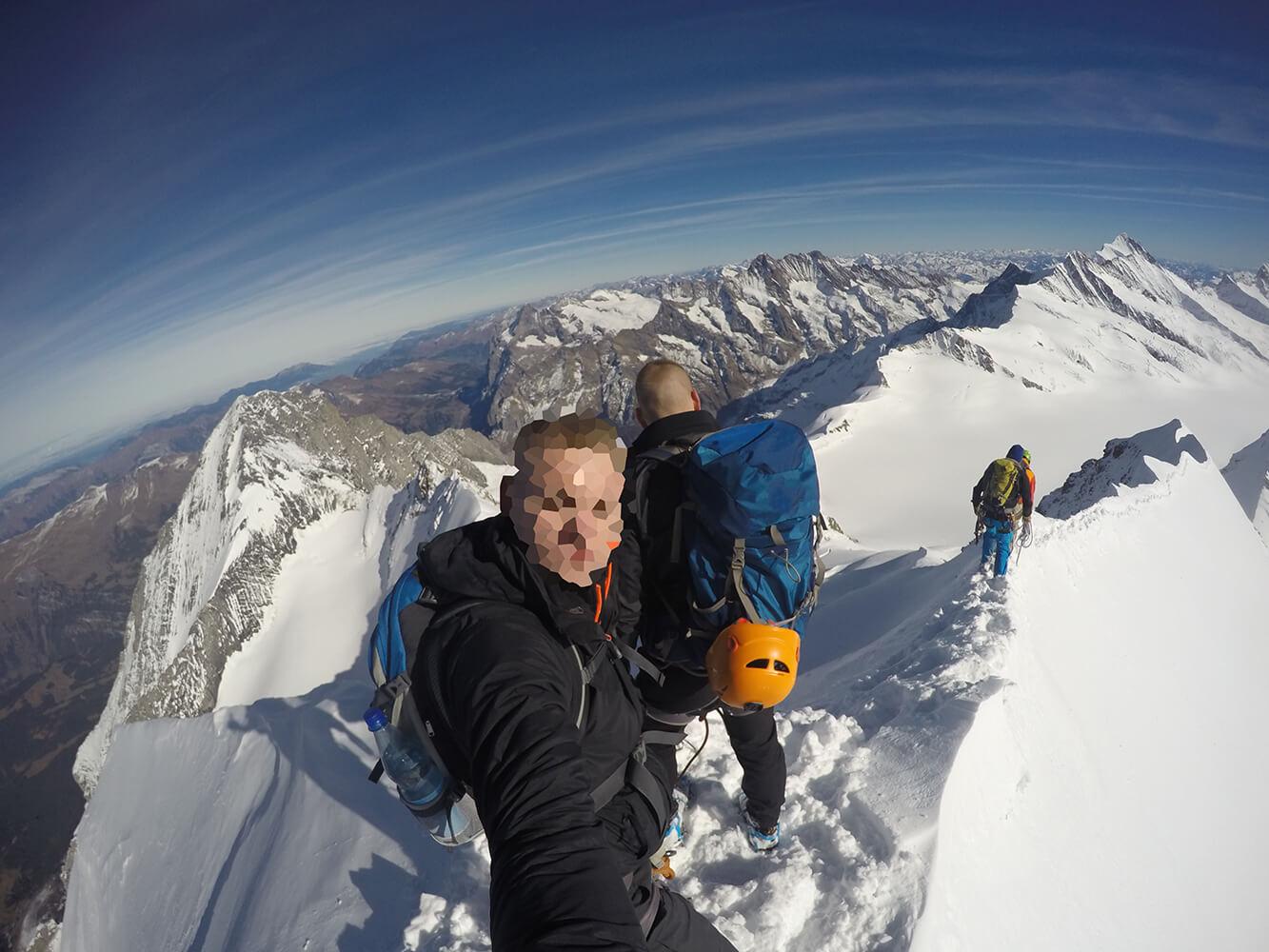 FEFLOGX Bergsteigen auf 4000m.