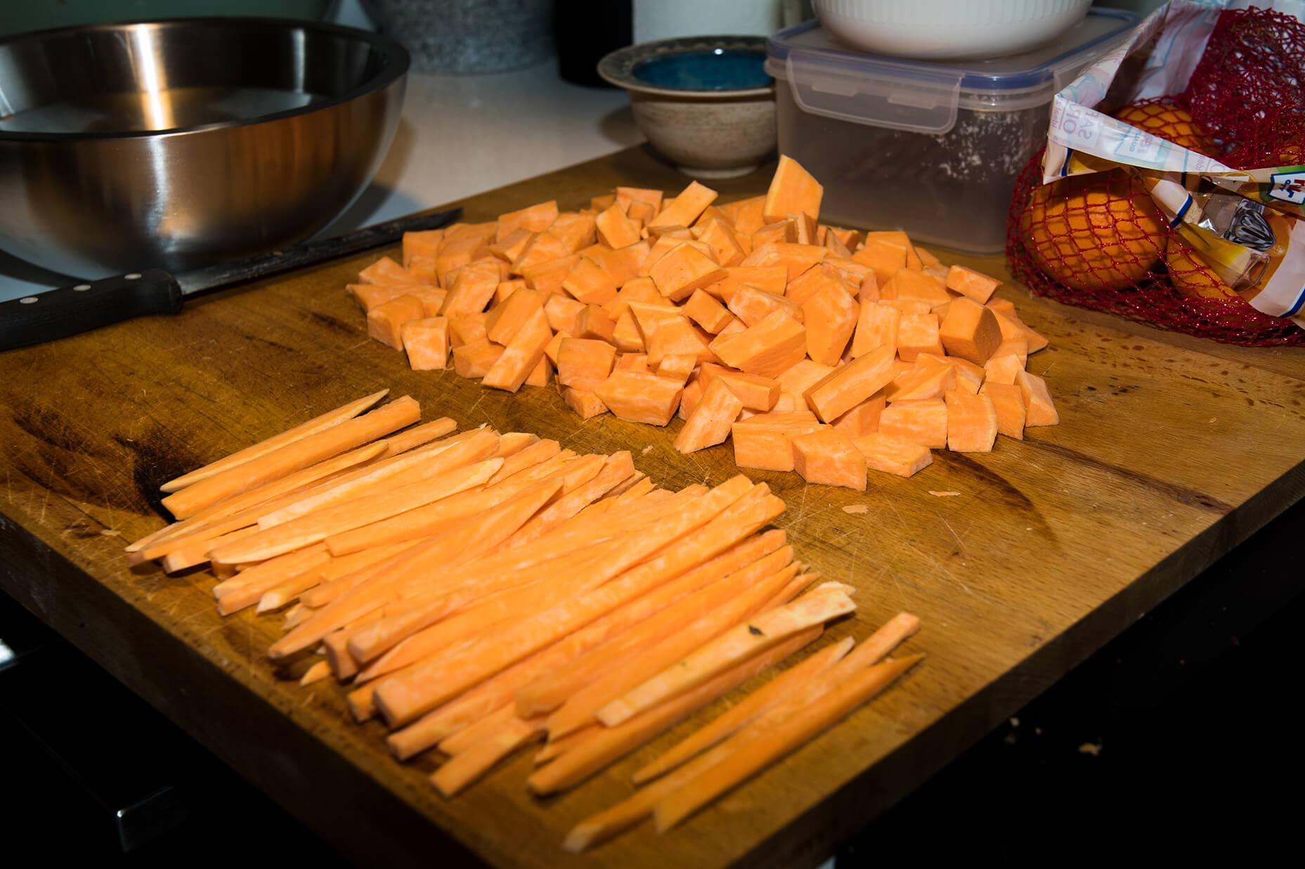 FEFLOGX gesundes Essen, Süßkartoffeln zubereiten (3).