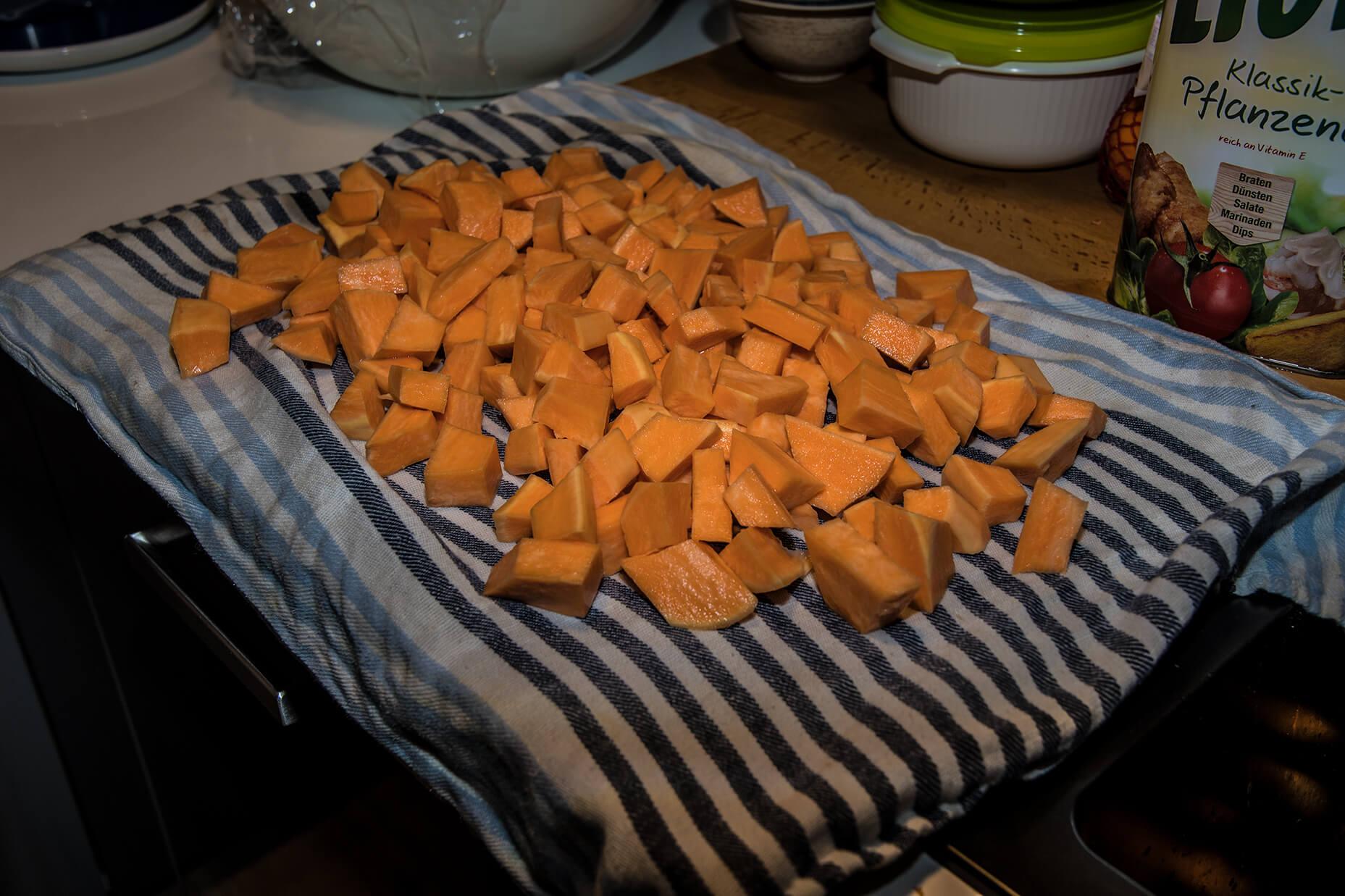 FEFLOGX gesundes Essen, Süßkartoffeln zubereiten