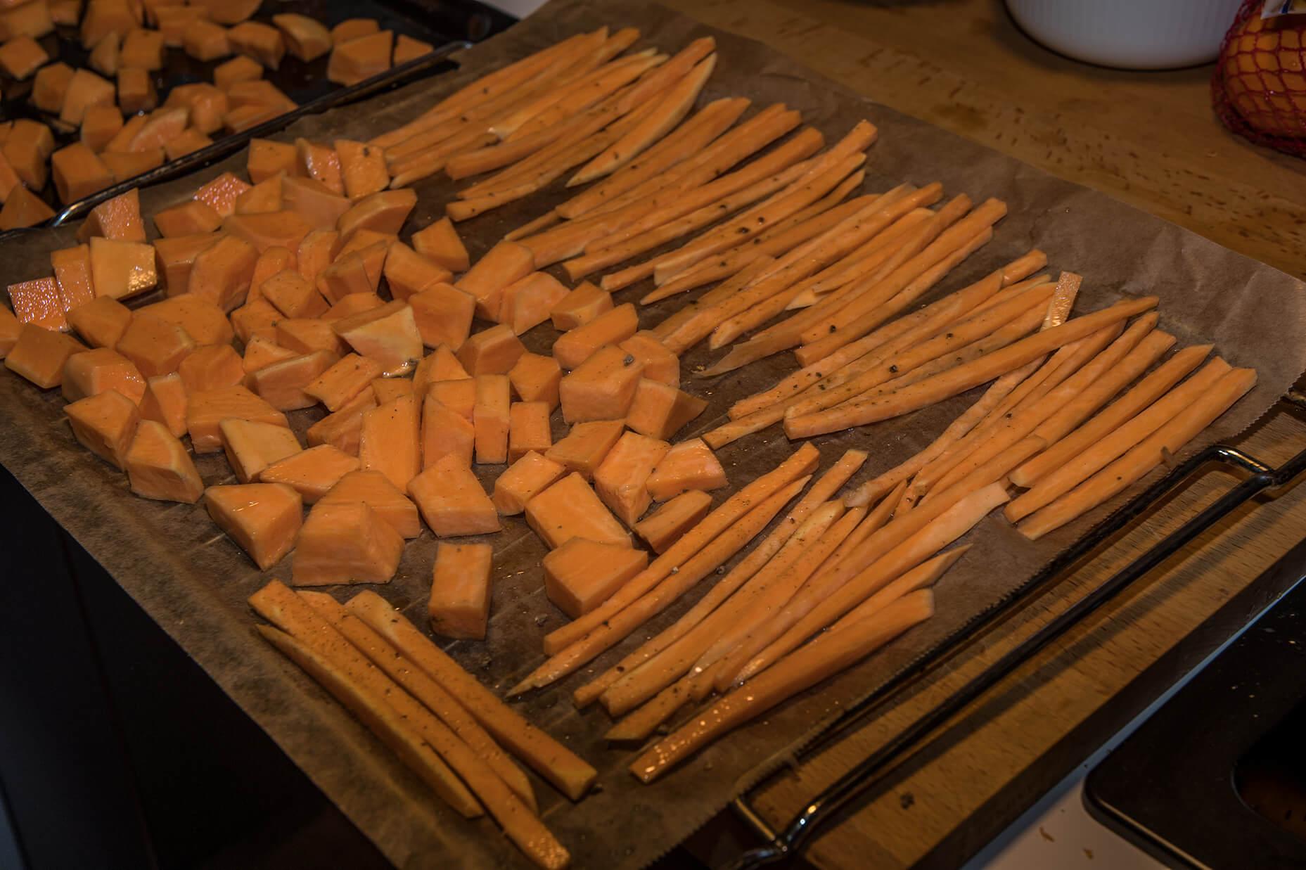FEFLOGX gesundes Essen, Süßkartoffeln zubereiten (1).