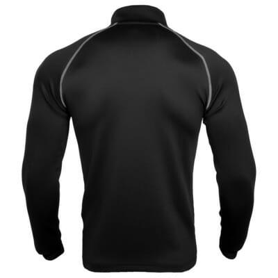 FEFLOGX Sportswear Longsleeve Pure, schwarz. Sport-Sweater, Sport Pullover für Fitness, Joggen, Kampfsport und mehr, hintere Ansicht.