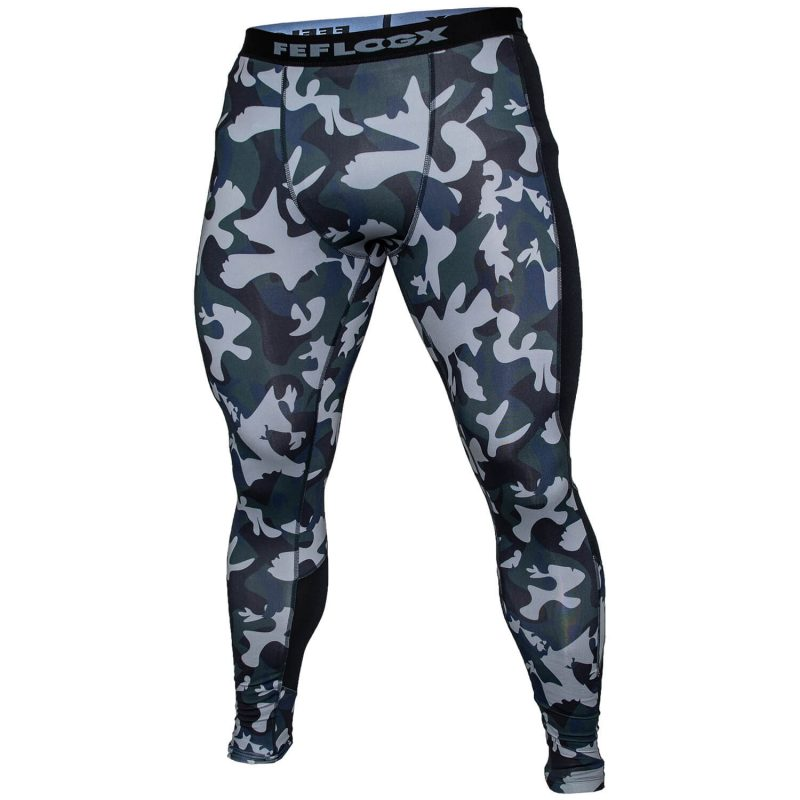 FEFLOGX Sportswear Camouflage Leggings Pure, Tights weißes Ghost-Foto (1).