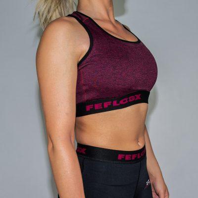 FEFLOGX Sportswear Damen Sport-BH Motion, Schräg Rechts (1).