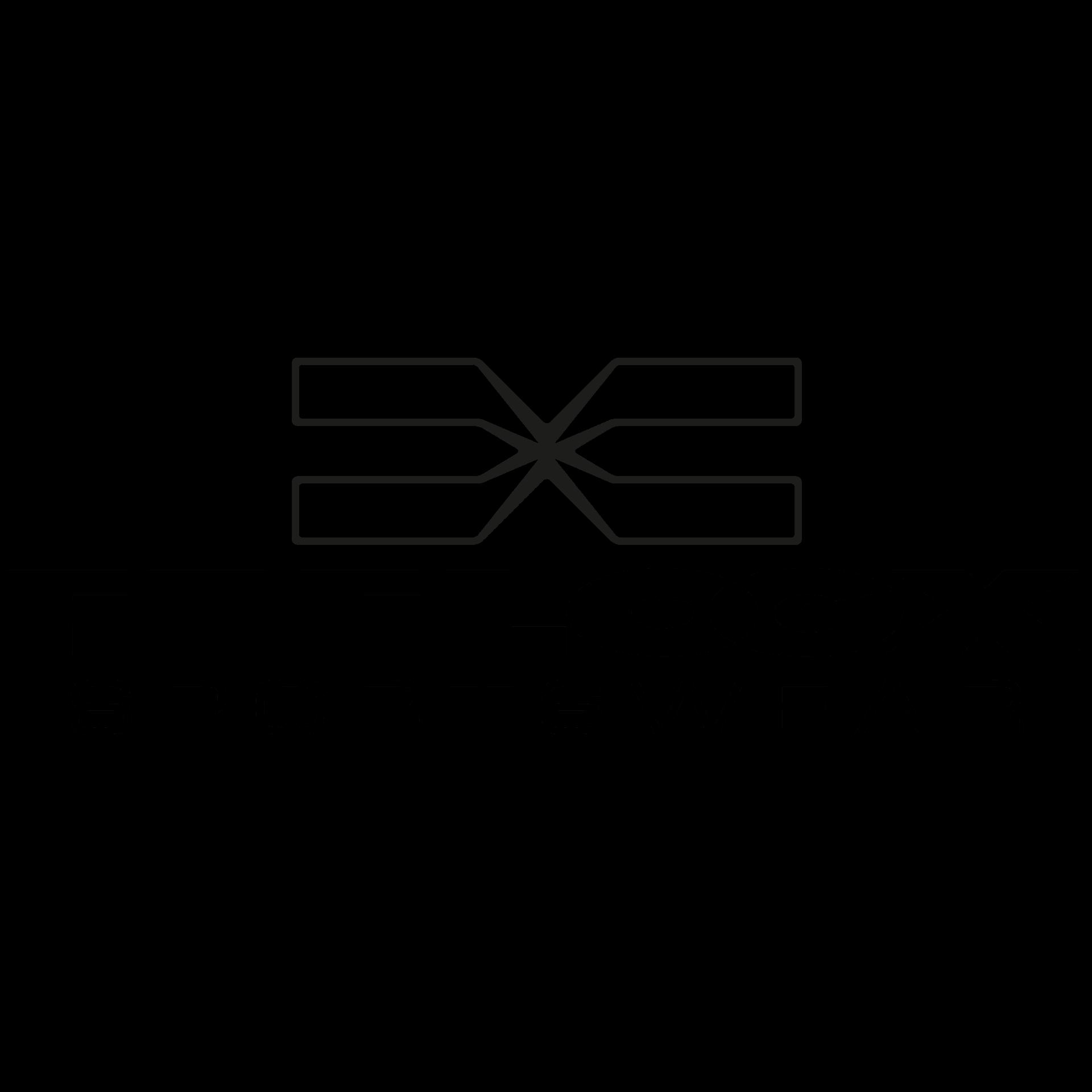 FEFLOGX Sportswear Logo, weißer Hintergrund.