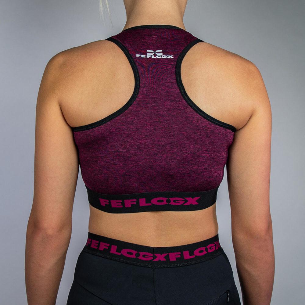 FEFLOGX Sportswear Damen Sport-BH Motion, Hinten (1).