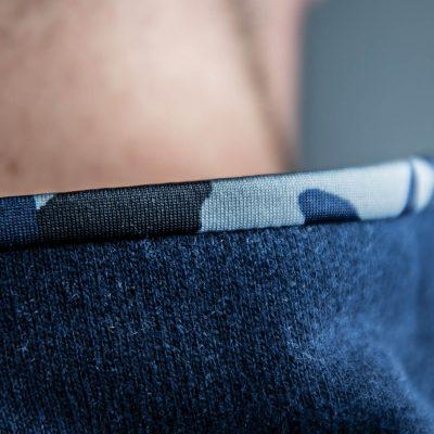 FEFLOGX Sportswear 1/4-Zip-Sweater, Detail Kragen.