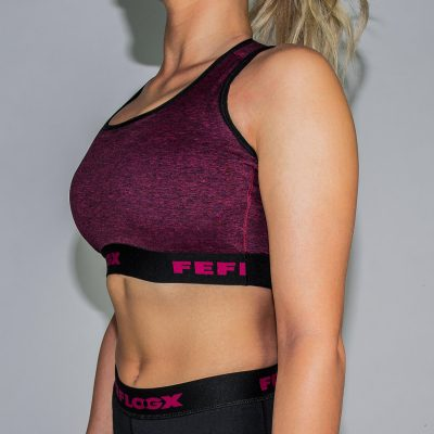 FEFLOGX Sportswear Damen Sport-BH Motion, Schräg Links (1).
