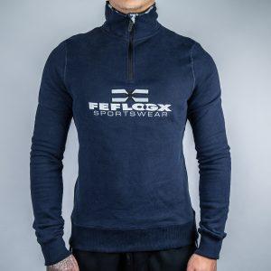 FEFLOGX Sportswear 1/4-Zip-Sweater, Vorne.