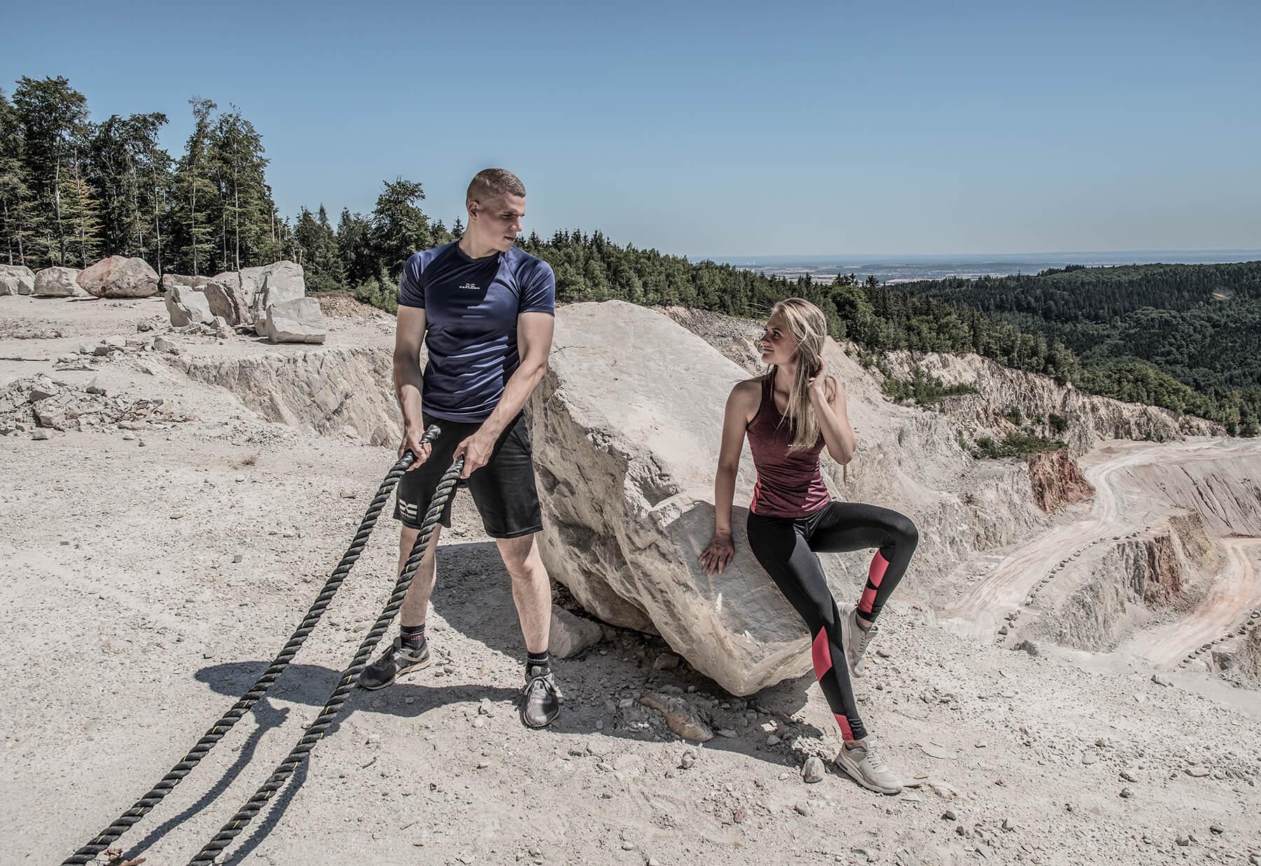 FEFLOGX Sportswear, Shooting mit der neuen Pure-Motion Kollektion, Couple-Workout.