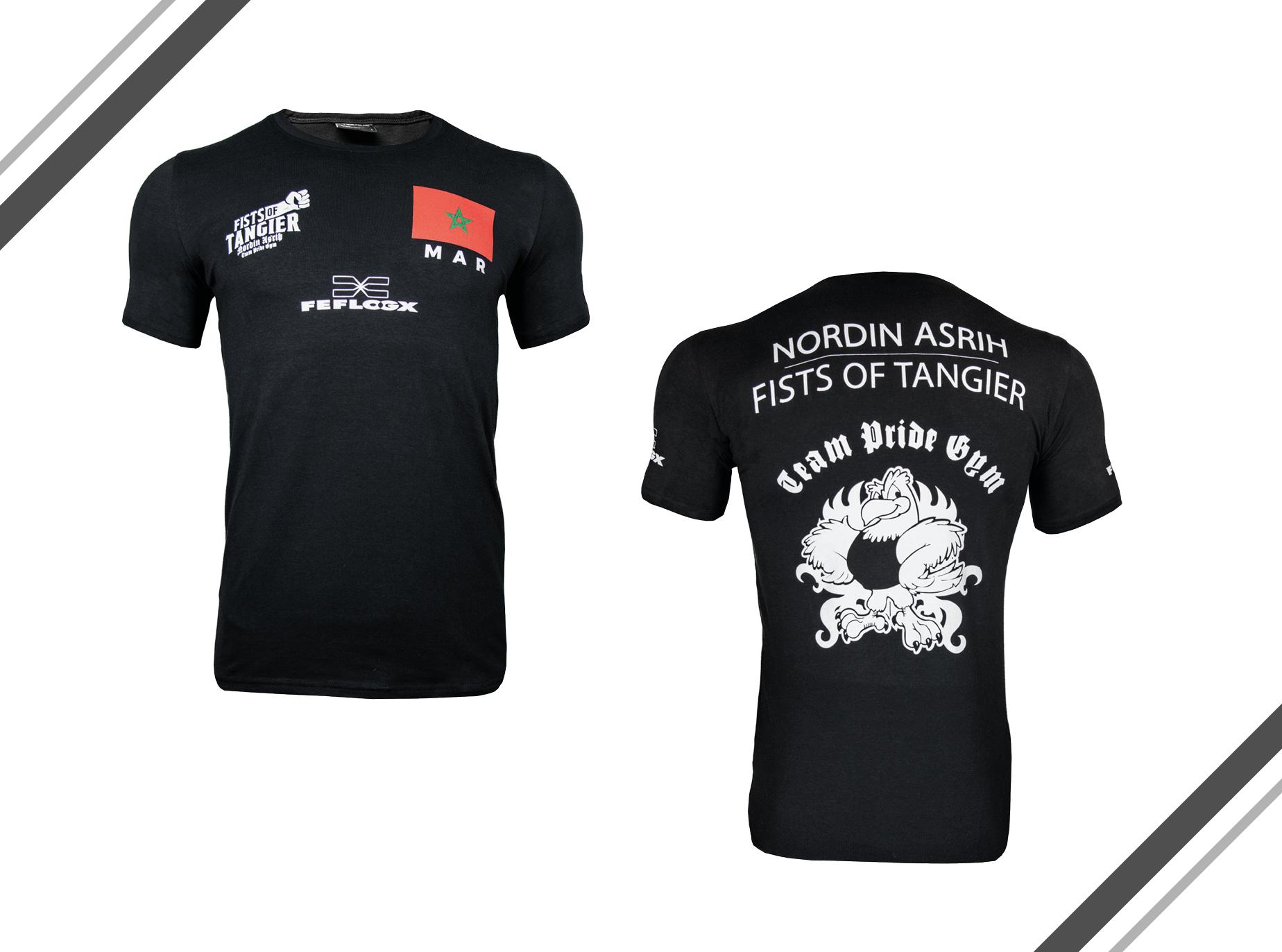 FEFLOGX Sportswear Support-Shirt, Hinten, Nordin Asrih, GMC, MMA-Fighter (1)..