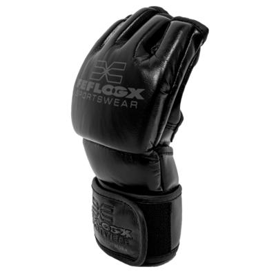 Profi MMA Fight Handschuhe EXC Move von FEFLOGX Sportswear, ohne Daumenschutz, Grappling, rechts.