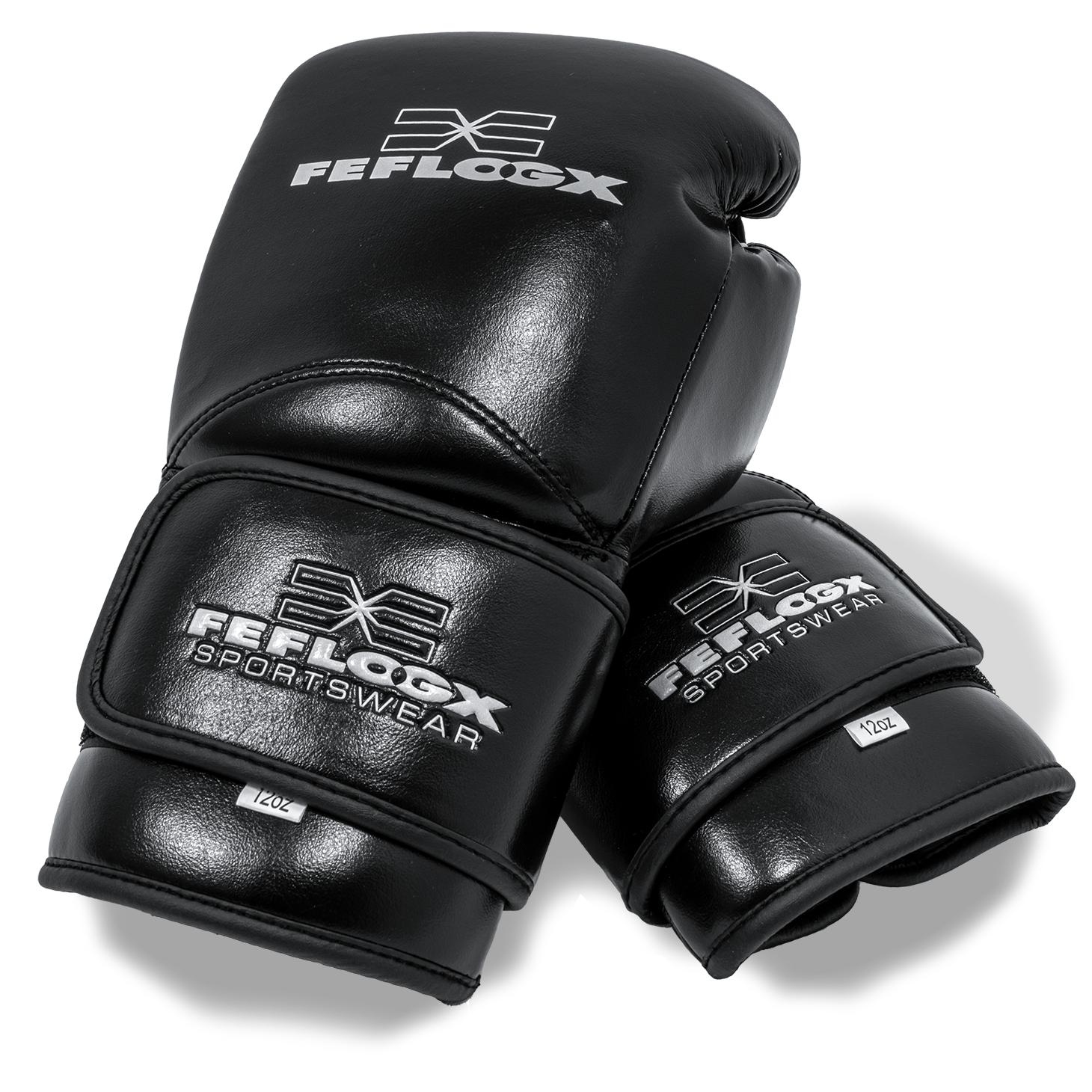 Profi Boxhandschuhe EXC Move von FEFLOGX Sportswear, 10 & 12 & 14 & 16 Unzen, Boxen, hochwertigstes Echt-Leder, weiß.