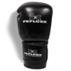 Profi Boxhandschuhe EXC Move von FEFLOGX Sportswear, 10 & 12 & 14 & 16 Unzen, Boxen, hochwertigstes Echt-Leder, obere Ansicht weiß.