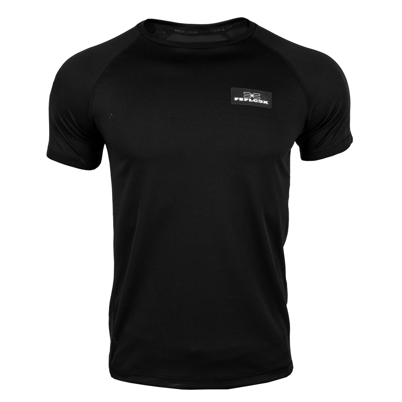 Funktionsshirt EXC Move, Mesh, schwarz, FEFLOGX Sportswear, vorne Sportshirt.