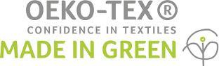 Oeko Tex Made in Green, Textil Prüfungen für FEFLOGX Sportswear.