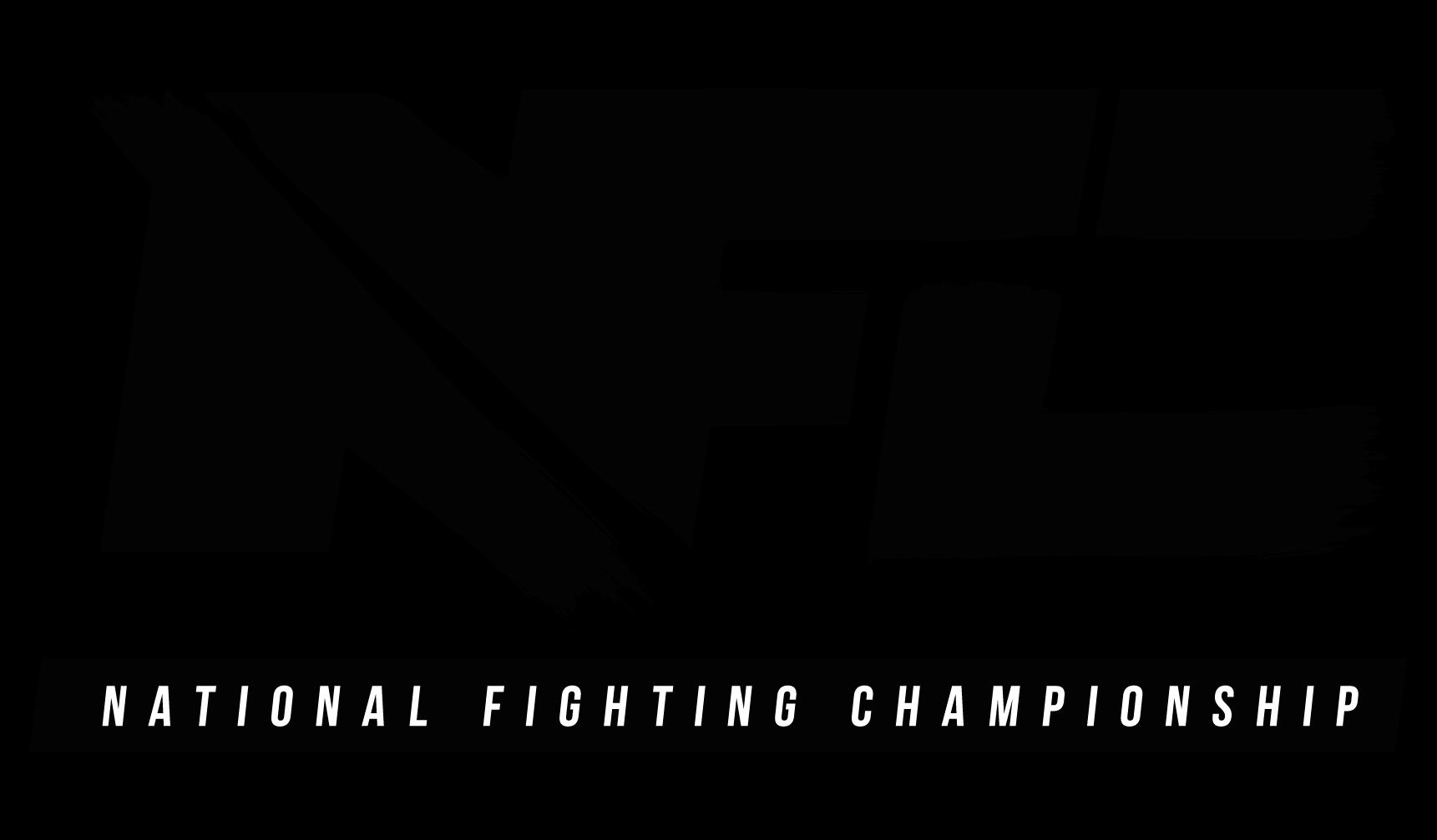 Logo der MMA & Kampfsport Veranstaltung National Fighting Championship, NFC. Qualifier für PFL und Partner von FEFLOGX Sportswear.