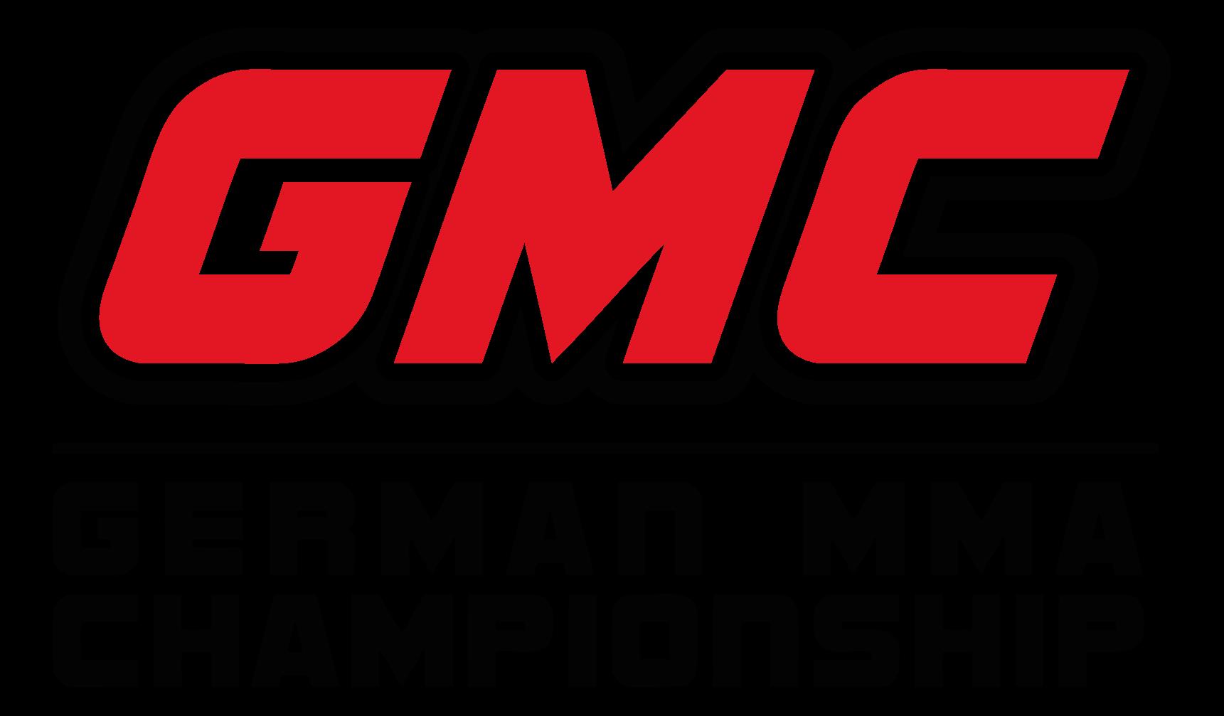 Logo der MMA & Kampfsport Veranstaltung German MMA Championship, GMC MMA. Größtes europäisches MMA-Event von Ranfighting/PROsieben und Partner von FEFLOGX Sportswear.