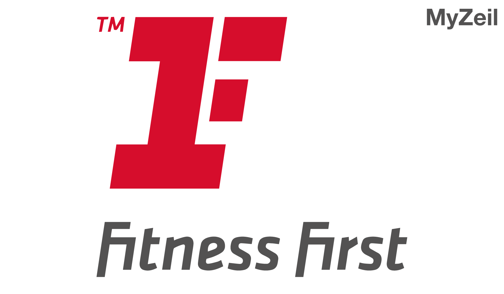 Logo des Fitness First Fitnessstudio Clubs MyZeil, in der MyZeil in Frankfurt am Main, Partner von FEFLOGX Sportswear.