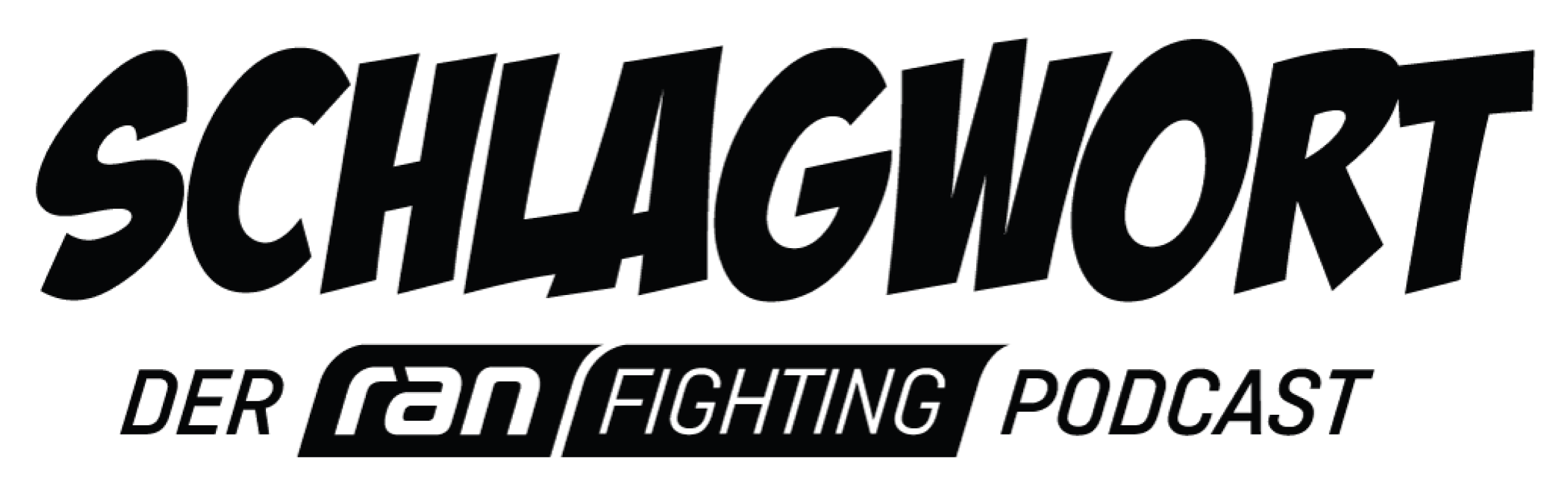 Logo des Ran Fighting Podcast, Schlagwort, Partner von FEFLOGX Sportswear.