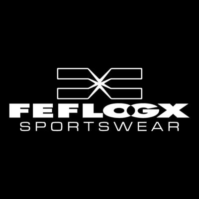 Logo FEFLOGX Sportswear (Weiß auf Schwarz).