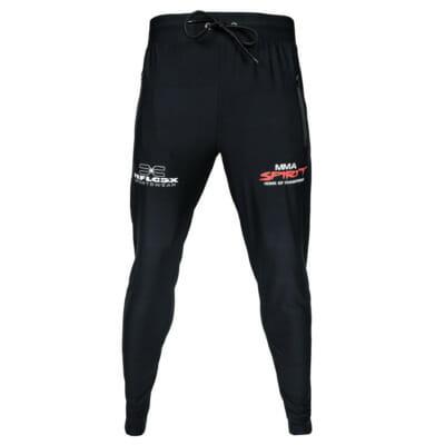 Support Trainingsanzug KSW MMA Fighter Christian Eckerlin, Trainingshose/Jogginghose, MMA Spirit, Zec Plus, FEFLOGX Sportswear, vordere Ansicht.