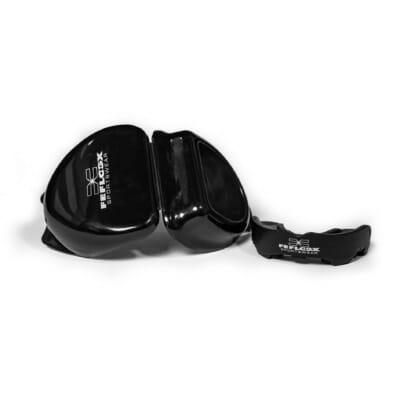 Multi Mundschutz, FEFLOGX Sportswear, Multi Mouthguard, multi-funktional, für jede Sportart, MMA, Boxen, Kampfsport, Rugby und vieles mehr, Luftschlitze, Polster-Kiseen zur Kraftverteilung, mit Aufbewahrungsbox (2).
