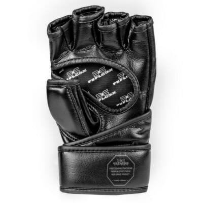 MMA Handschuhe Training, mit Daumenpolster, maximaler Schutz und maximale Power, Kampfsport, FEFLOGX Sportswear, perfekt, Handfläche Bild.
