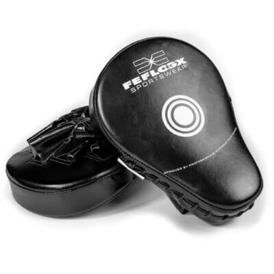 Boxpratzen von FEFLOGX Sportswear, Treffer-Fläche Schlagfläche der Pratzen für Boxen, MMA, Kampfsport etc., Leder Schlagpolster.