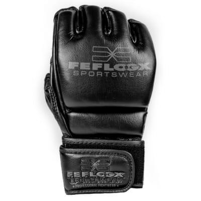 MMA Handschuhe Training, mit Daumenpolster, maximaler Schutz und maximale Power, Kampfsport, FEFLOGX Sportswear, perfekt, Handrücken Bild (1).