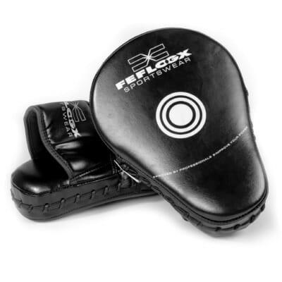 Boxpratzen von FEFLOGX Sportswear, Treffer-Fläche Schlagfläche mit Zielen der Pratzen für Boxen, MMA, Kampfsport etc., Leder Schlagpolster.